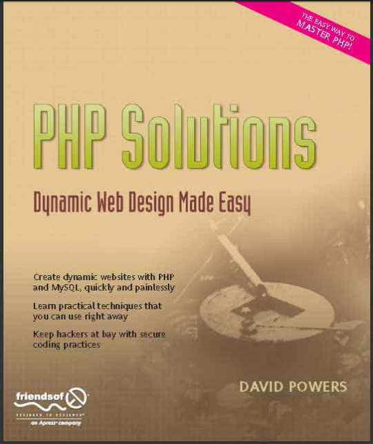 PHP Solutions - Dynamic Web Design Made Easy Nov 2006